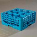 Carlisle RG9-314 - Opticlean™ 9-Compartment Glass Rack W/ 3 Extenders, Carlisle Blue - Pkg Qty 2