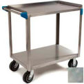 "Stainless Steel Utility Cart 2 Shelf 700 Lbs. Capacity 21"" x 33"" - Stainless Steel"