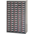 """Steel Shuter Parts Drawer Cabinet, 75 Drawers, Floor unit, 23""""W x 8-3/4""""D x 36-13/16""""H"""