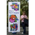 """SpeedPress® Wind Wise Outdoor Banner Stand 54""""-78""""H"""