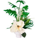 Creative Displays Tropical White Magnolia Floral In A Ceramic Pot