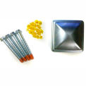 Wildeck® Single and Double Rail Post Hardware Kit, WGCHP-O