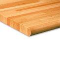 """Global Industrial 1-3/4"""" Varnique Finished Oak Butcher Block Top - 60X30"""" - Safety Edge"""