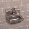 """John Boos Wall-Mount Sink - 17X15X12-3/4"""" - With Dual-Handle Faucet"""