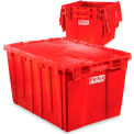 "Relius Solutions Tote With Attached Lid - 21.9"" X 15.2"" X 9.3"" - Red"