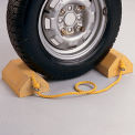Recycled Plastic Wheel Stops - 9-1/2x5-3/4x3-3/4""