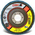"Cgw 4-1/2""X7/8"" T27 Z-Pce Zirconia Reg 60 Grit Flap Disc - Pkg Qty 10"