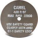 "CGW Abrasives 35507 Cut-Off Wheel 4"" x 3/8"" 60 Grit Type 1 Aluminum Oxide - Pkg Qty 50"