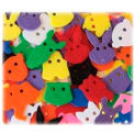 ChenilleKraft Delightful Animal Face Button, CKC6601, Assorted Colors, 70/Pk