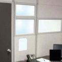 "Compatico CMW 12""H x 48""W PolyStax Clear Glass Segment with Black Frame"