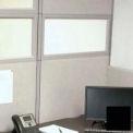 "Compatico CMW 12""H x 48""W PolyStax Frosted Glass Segment with Black Frame"