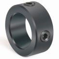 "Two-Hole Set Screw Collar C-2H-Series, 1/2"", Black Oxide Steel"