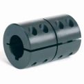 "One-Piece Clamping Couplings Recessed Screw w/Keyway, 1/2"", Black Oxide Steel"