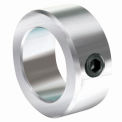 "Lightweight Set Screw Collar L, 1/4"", Zinc Plated Steel"