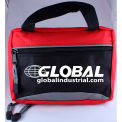 Custom Kits Company Carry All Red Soft Pack First Aid Kit, Cordura Case, 73 Pieces