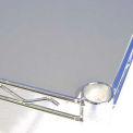 PVC Shelf Liners 18 x 48, Grey (2 Pack)