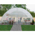 "Clear View Greenhouse Kit 20'W x 10'7""H x 20'L - Natural Gas"
