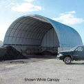 Econoline Storage Building 30'W x 15'H x 35'L Green Pony Wall