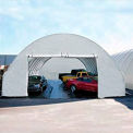 Tall 30'W Solid End Panel - White for Econoline buildings