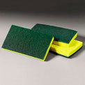 3M Scotch-Brite™ Medium Duty Scrubbing Sponge, Yellow/Green, 10 Sponges - 74CC
