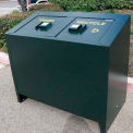 BearSaver BE Series 140 Gal. Animal Resistant Waste/Recycling Receptacle - Green