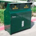 BearSaver CE Series 80 Gal. Animal Resistant Double Waste/Recycle Receptacle-GN