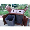 BearSaver H/A® Series 80 Gal. Animal Resistant Double Recycle Receptacle-GN