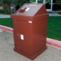 BearSaver H/A® Series 40 Gal. Animal Resistant Waste Receptacle - Brown