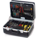 """CH Ellis Chicago Case XLST75, 2 Pocket Pallet Tool Case, 18-1/2""""L x 13-1/2""""W x 8""""H, Black"""