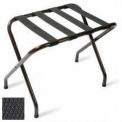 Flat Top Black Luggage Rack with Black Straps, 6 Pack