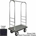 "Easy Mover Bellman Cart Chrome, Black Carpet, Black Bumper, 8"" Gray Pneumatic"