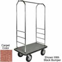 "Easy Mover Bellman Cart Chrome, Tan Carpet, Gray Bumper, 8"" Black Pneumatic"