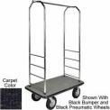 "Easy Mover Bellman Cart Chrome, Black Carpet, Gray Bumper, 8"" Gray Pneumatic"