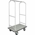 "CSL Economy Bellman Cart Silver Metallic, Gray Carpet & Black Bumper, 6"" Pneu"