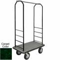 Easy Mover Bellman Cart Black, Green Carpet, Black Bumper, 8