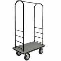 Easy Mover Bellman Cart Black, Gray Carpet, Black Bumper, 8