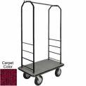 Easy Mover Bellman Cart Black, Red Carpet, Black Bumper, 8