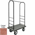 Easy Mover Bellman Cart Black, Tan Carpet, Black Bumper, 8