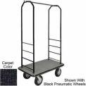 Easy Mover Bellman Cart Black, Black Carpet, Black Bumper, 8