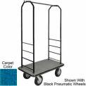 Easy Mover Bellman Cart Black, Blue Carpet, Black Bumper, 8