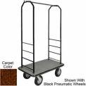 Easy Mover Bellman Cart Black, Brown Carpet, Black Bumper, 5