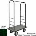 Easy Mover Bellman Cart Black, Green Carpet, Black Bumper, 5