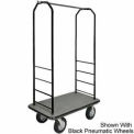 Easy Mover Bellman Cart Black, Gray Carpet, Black Bumper, 5
