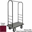Easy Mover Bellman Cart Black, Red Carpet, Black Bumper, 5