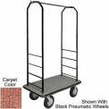 Easy Mover Bellman Cart Black, Tan Carpet, Black Bumper, 5