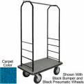 Easy Mover Bellman Cart Black, Blue Carpet, Gray Bumper, 8