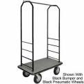 Easy Mover Bellman Cart Black, Gray Carpet, Gray Bumper, 8