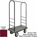 Easy Mover Bellman Cart Black, Red Carpet, Gray Bumper, 8