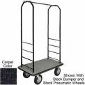 Easy Mover Bellman Cart Black, Black Carpet, Gray Bumper, 5