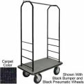 Easy Mover Bellman Cart Black, Black Carpet, Gray Bumper, 8